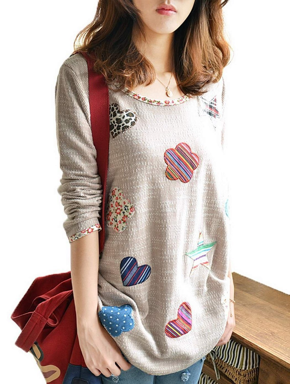 Minetom Mujeres Moda Suéter Estilo Casual Camisas Cuello Redondo Sweatshirts Blusa Tops: Amazon.es: Ropa y accesorios