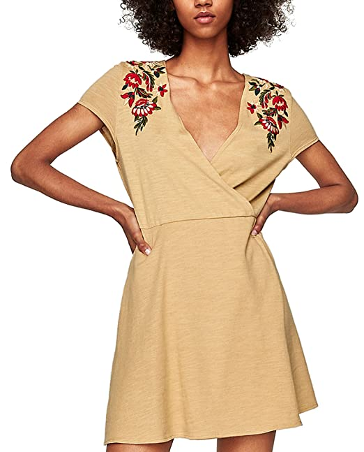 cfc91a4f2a Zara Women Embroidered mini dress 5755/104 (Medium): Amazon.ca ...