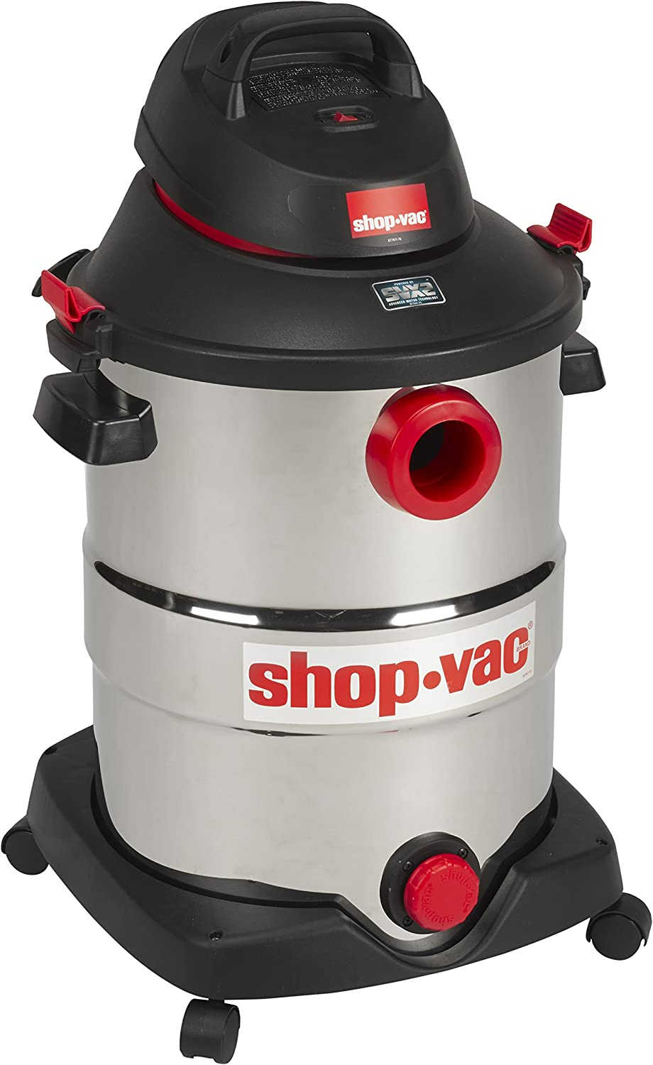 Shop-Vac 5989500 12 gallon 5.5 Peak HP Stainless Wet Dry Vacuum, Black