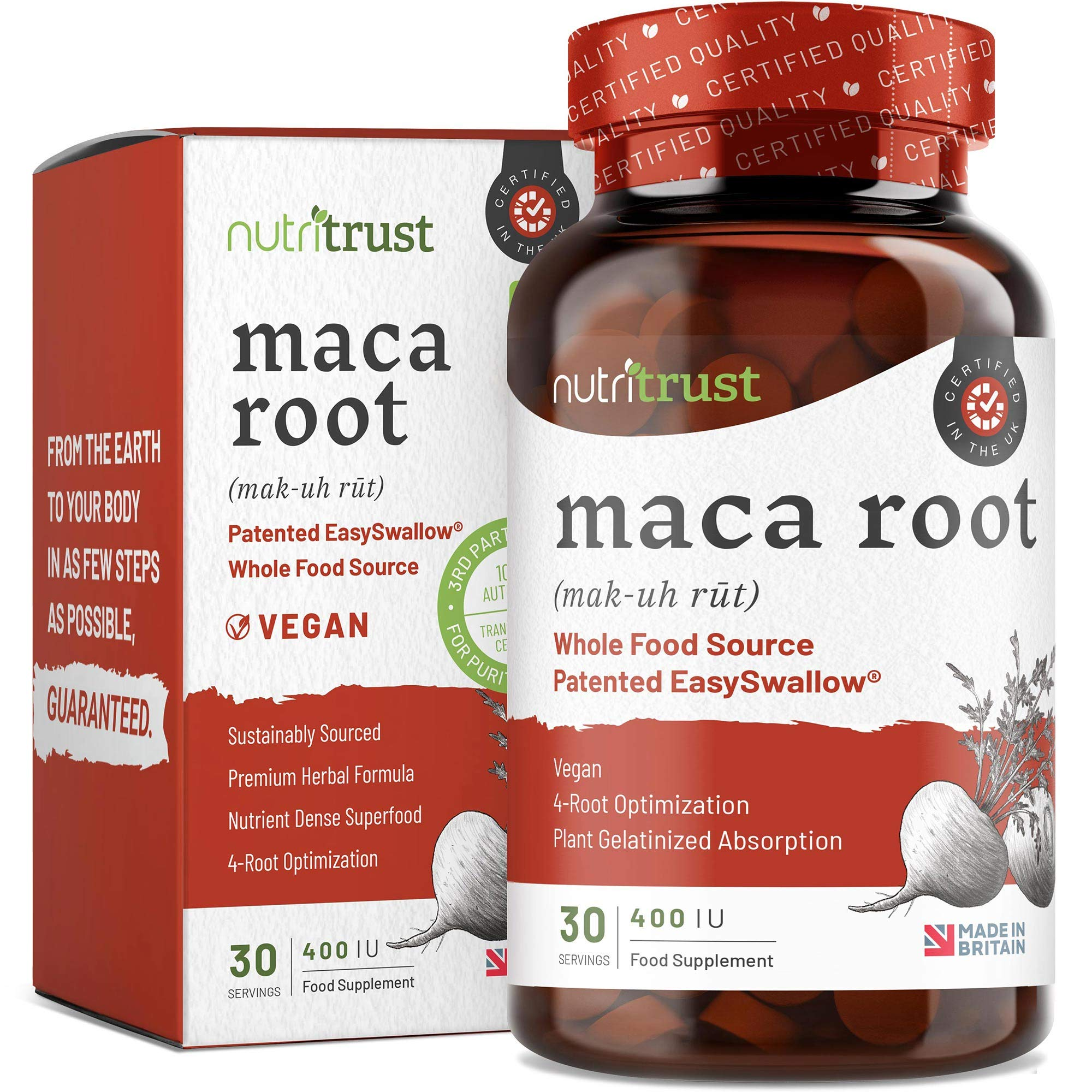 THE WINNER 2020* PREMIUM Maca Root Capsules - Nutritionist Formulated & Sustainably-Sourced Peruvian Maca Root - Vegetarian & Vegetarian Capsules - GMP Certified/Made in Britain
