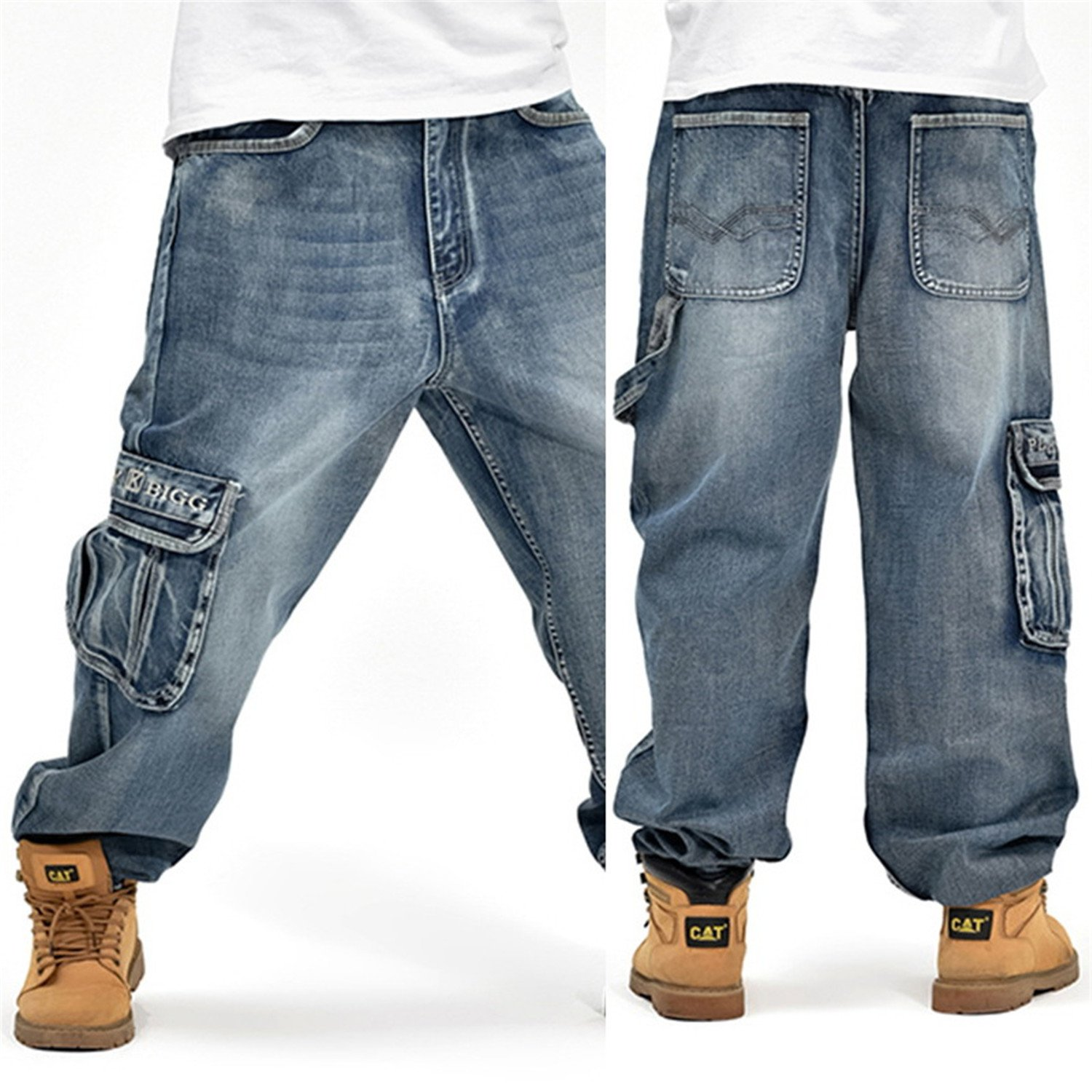 Richard Nguyen New Casual Large Size Jeans Men Plus Fertilizer To Increase The Individuality Fashion Hip-Hop Jeans Loose