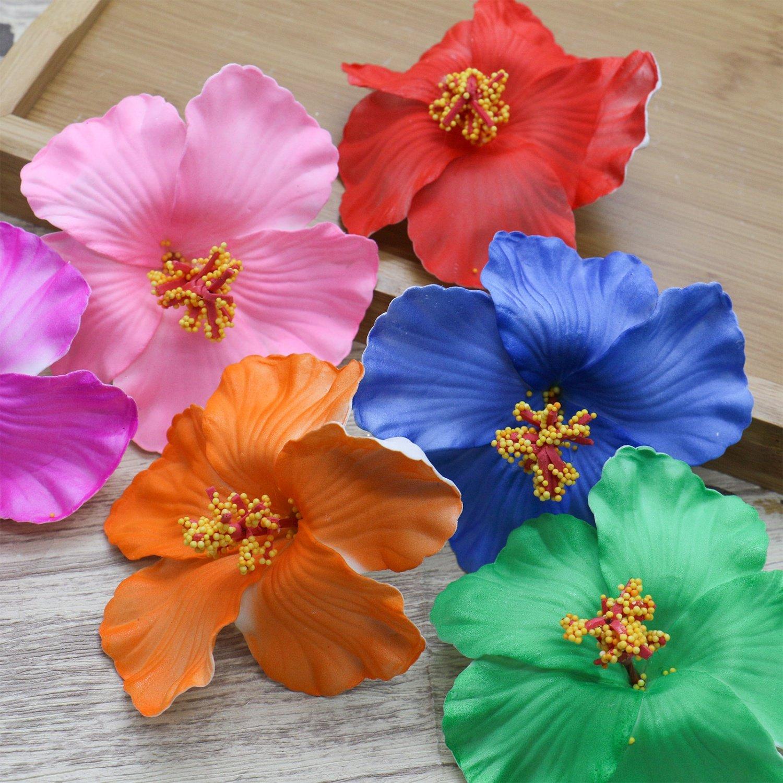 Amazon huele 9pcs hawaiian hibiscus foam flower hair clips for amazon huele 9pcs hawaiian hibiscus foam flower hair clips for girls women 35 inches home kitchen izmirmasajfo
