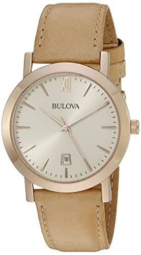 Bulova Unisex Tan Strap Watch