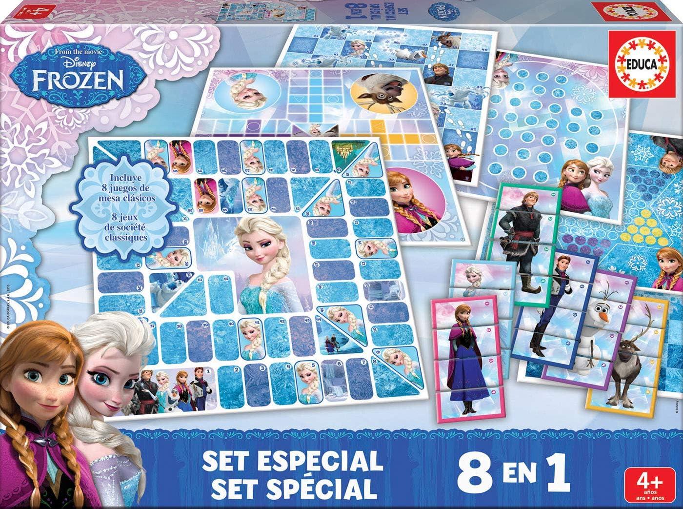 Educa Borrás Frozen - Set Especial 8 en 1, Juego de Mesa 16386: Amazon.es: Juguetes y juegos