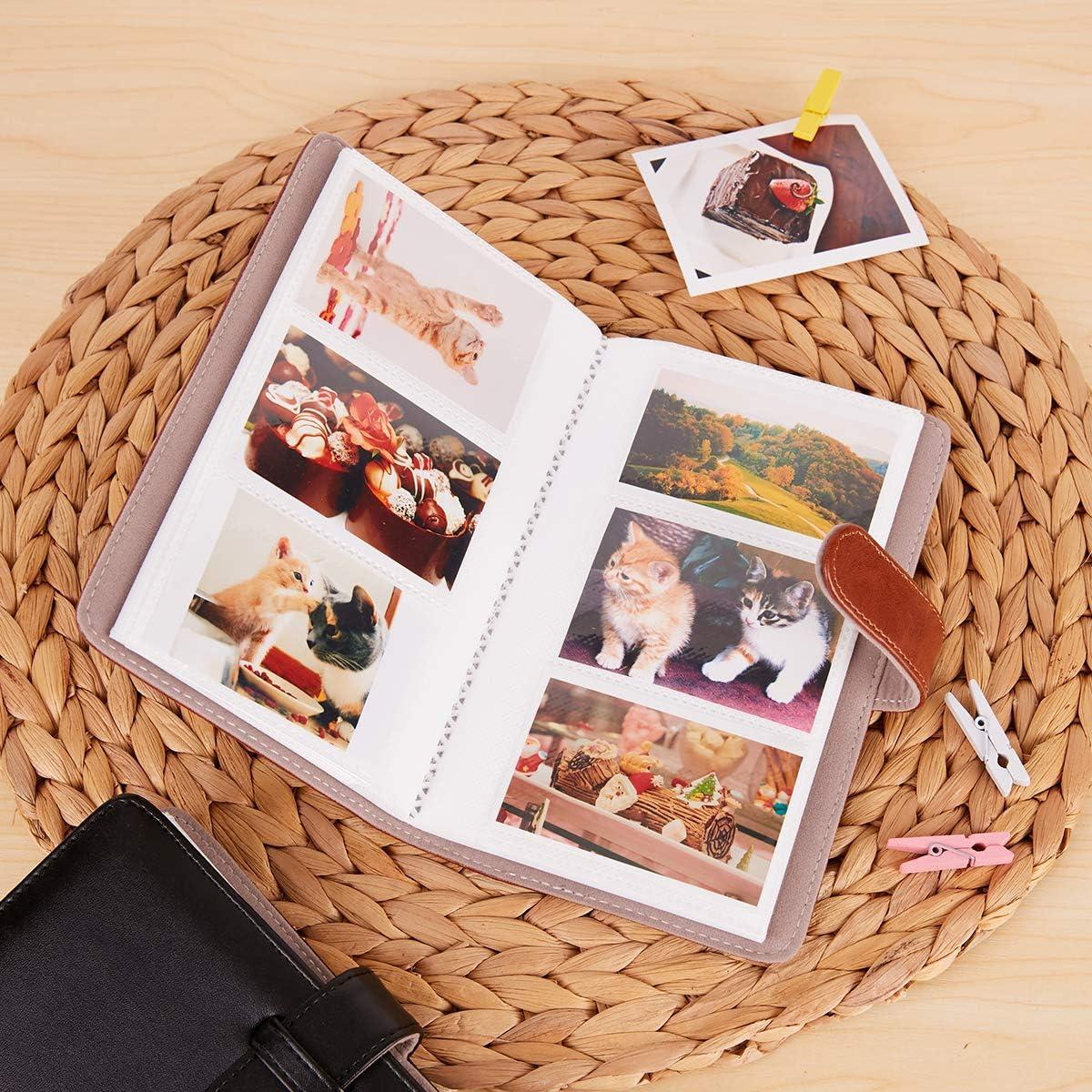 Annle Instax Mini Photo Album for Fujifilm Instax Mini 11 7s 8 8 Country Wildflowers 9 25 26 50s 70 90 Instant Film Camera /& Name Card