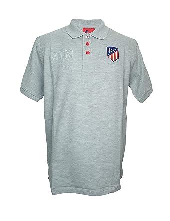 Atlético de Madrid Polo Gris - ATM Blanco con Escudo Original ...