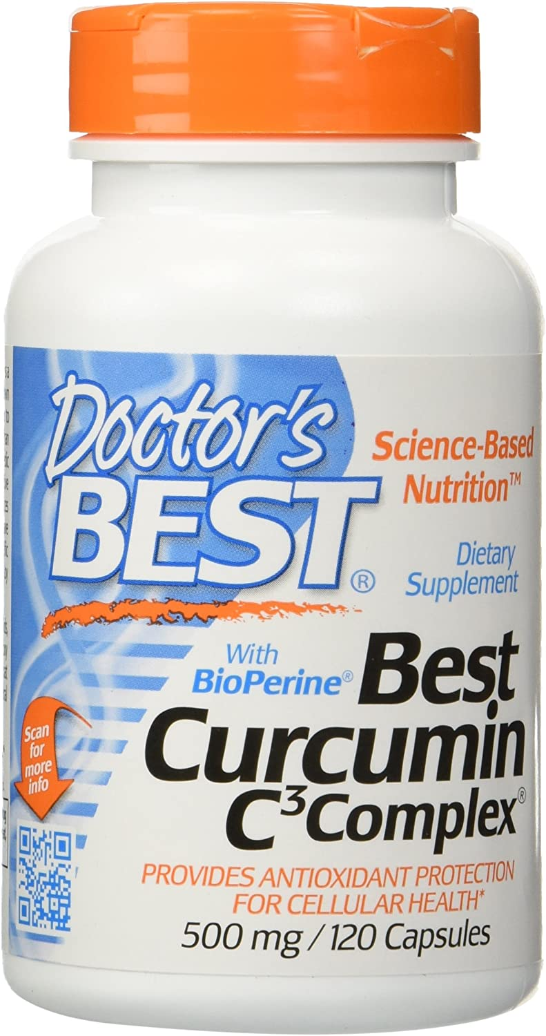 Doctor s Best Curcumin C3 Complex with Bioperine 500 Mg , Capsules, 120-count 120 X 2
