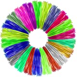 Aerb 20pcs 1.75mm PLA 3D Pen Filament Refills, 328 Linear Feet (16.4 feet each) with Total of 20 Different Colors, 4 Glow in the Dark Colors