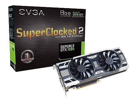 EVGA GeForce GTX 1080 SC2 Gaming, 8GB GDDR5X, iCX Technology - 9 Thermal  Sensors & RGB LED G/P/M, Asynch Fan, Optimized Airflow Design Graphics Card