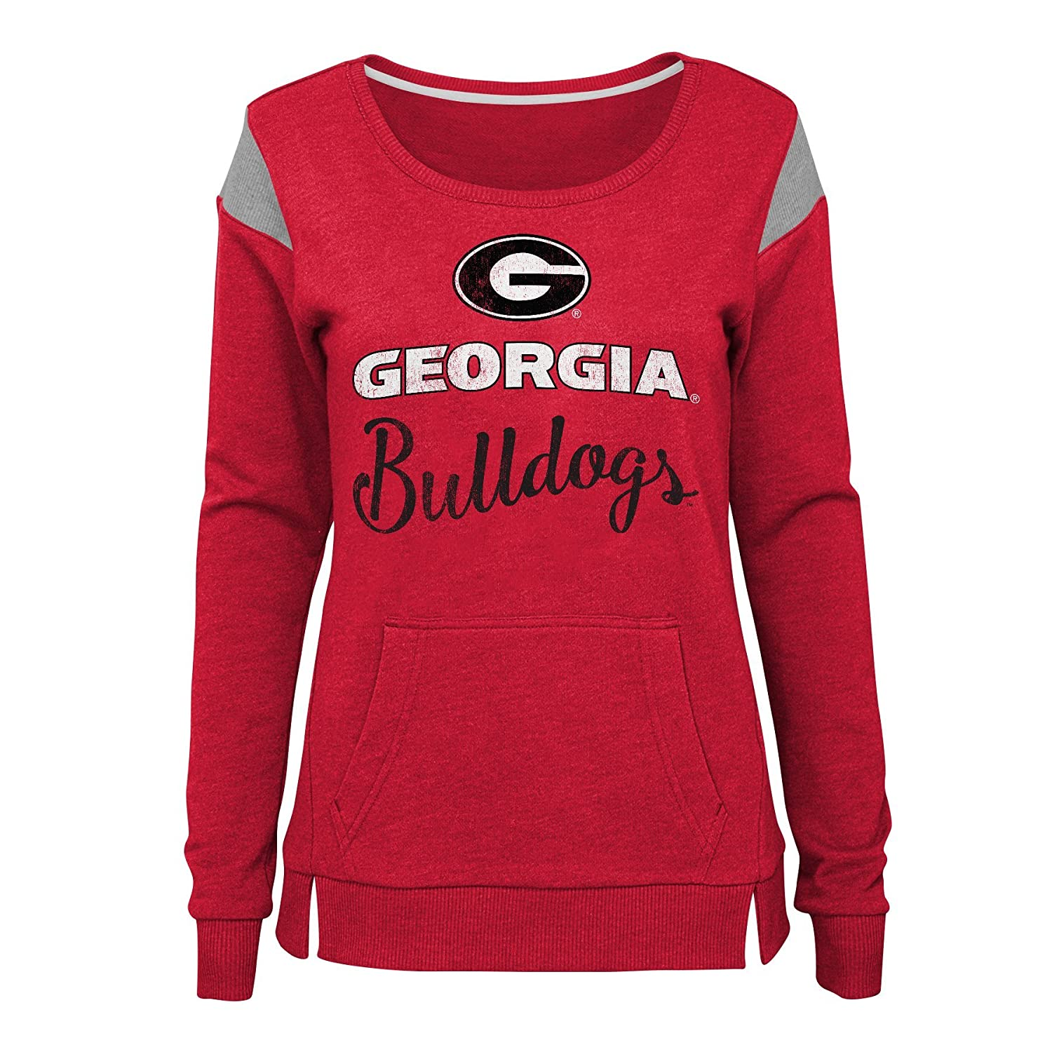 NCAA Georgia Bulldogs Juniors Outerstuff Classic Crew Pullover Fleece 3-5 Team color Small