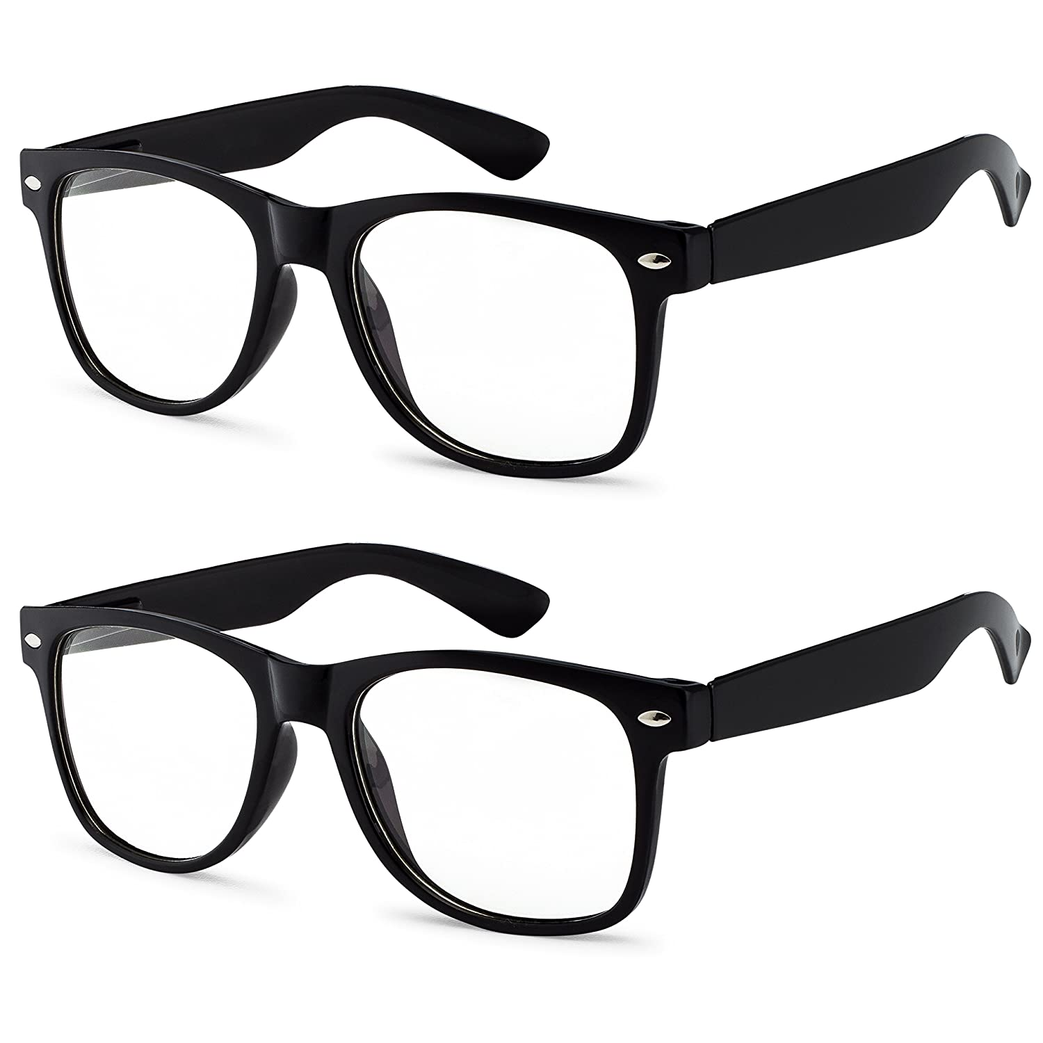 07fcbff017e Amazon.com  3 Pairs Classic Vintage Sunglasses 2 BLACK and 1 WHITE Frame Clear  lens OWL  Clothing