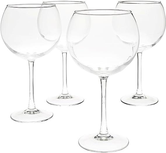 AmazonBasics Red Wine Balloon Wine Glasses