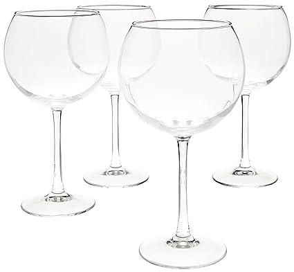 f915cc0ac22 AmazonBasics Red Wine Balloon Wine Glasses, 20-Ounce, Set of 4
