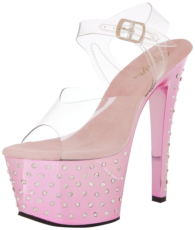 Amazon.com | Pleaser Women's Stardust-708 Ankle-Strap Sandal | Platforms &  Wedges