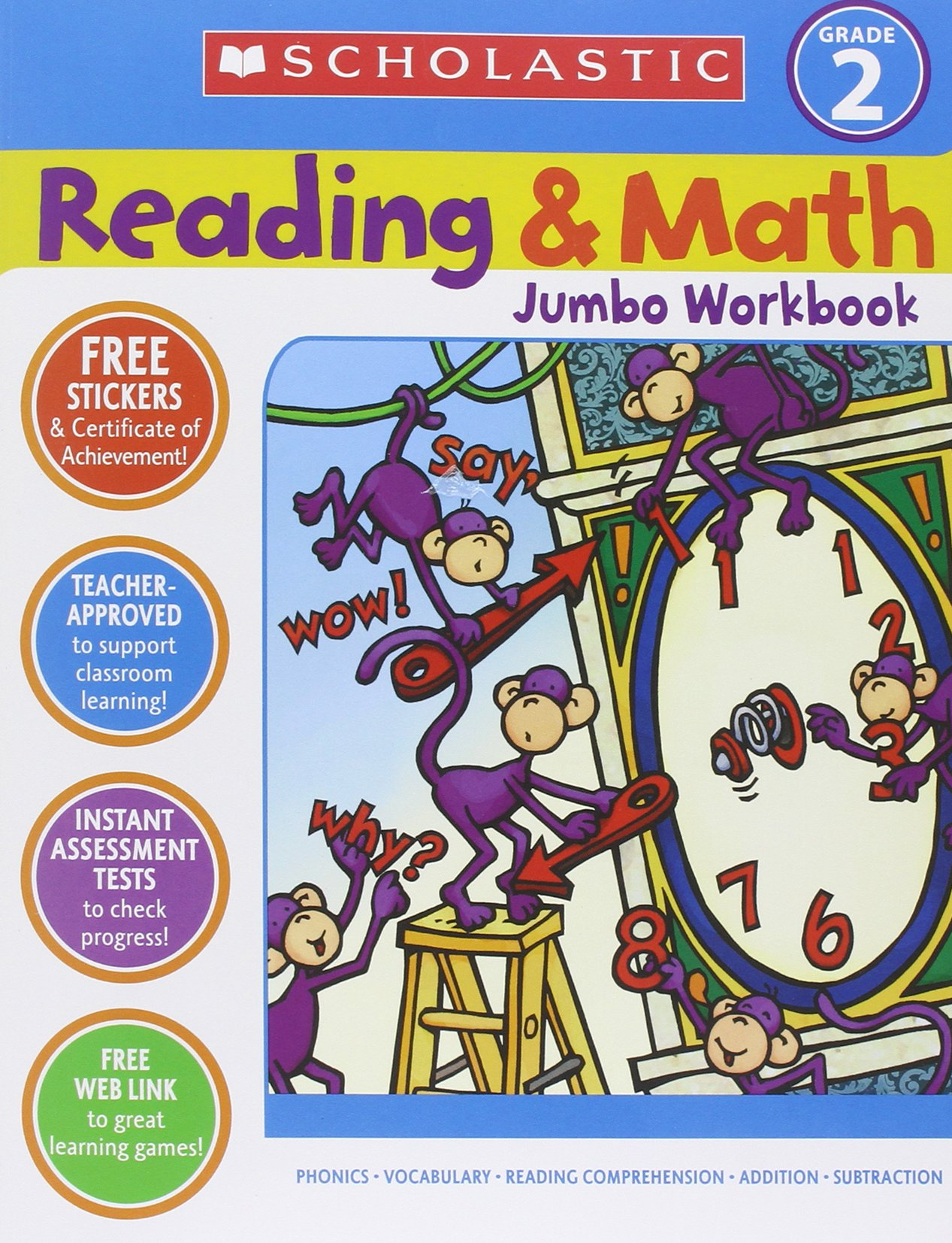 Amazon.com: Reading & Math Jumbo Workbook: Grade 2 (9780439786010 ...