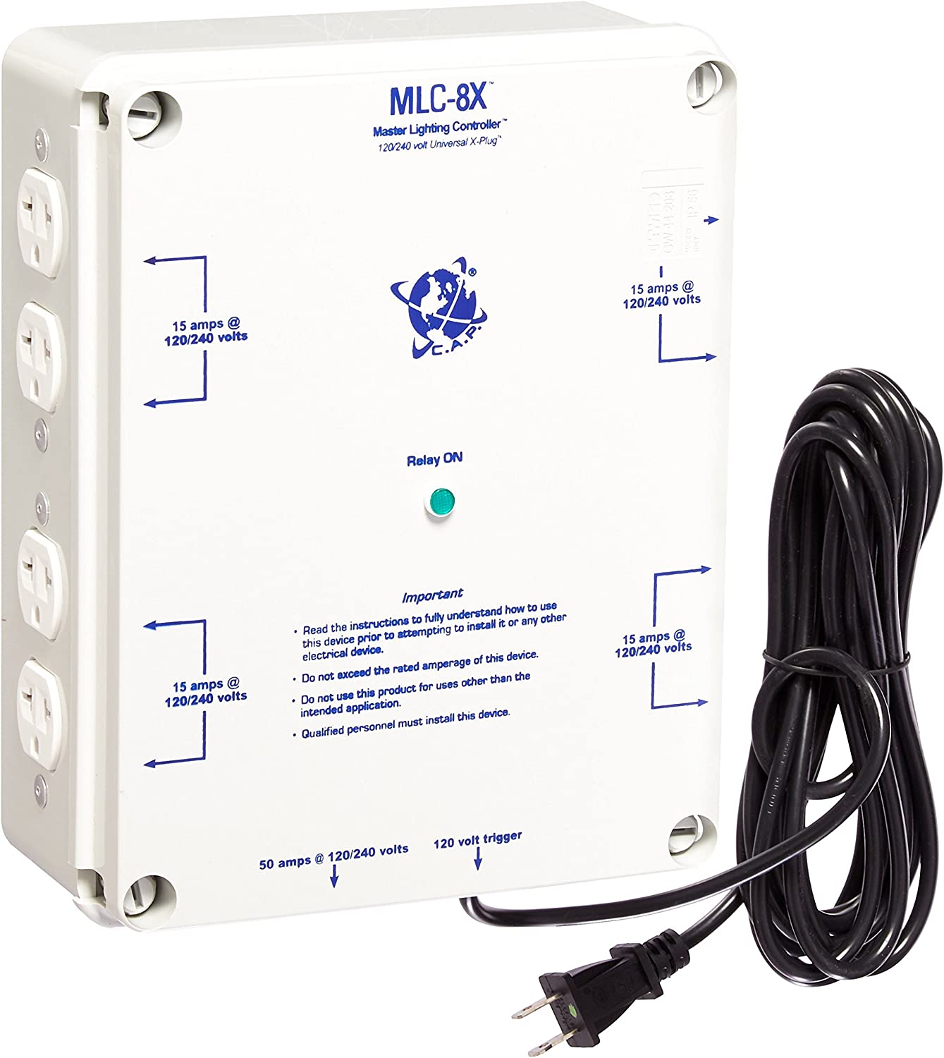 MCL 8 Outlet HID hydroponic Master Light Controller Electric Box 120v //240v 50A