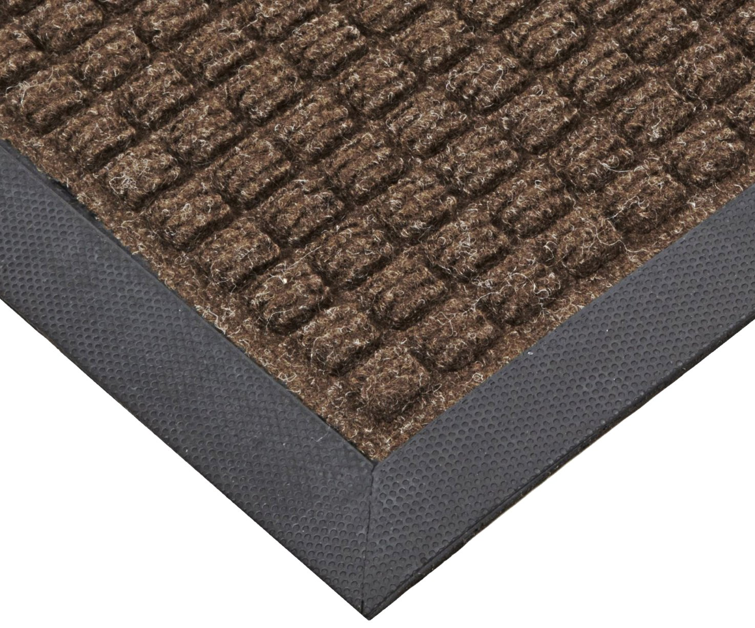 NoTrax T35 Polypropylene Water Master Entrance Carpet Mat, for Wet and Dry Areas, 4' Width x 6' Length x 3/8'' Thickness, Brown
