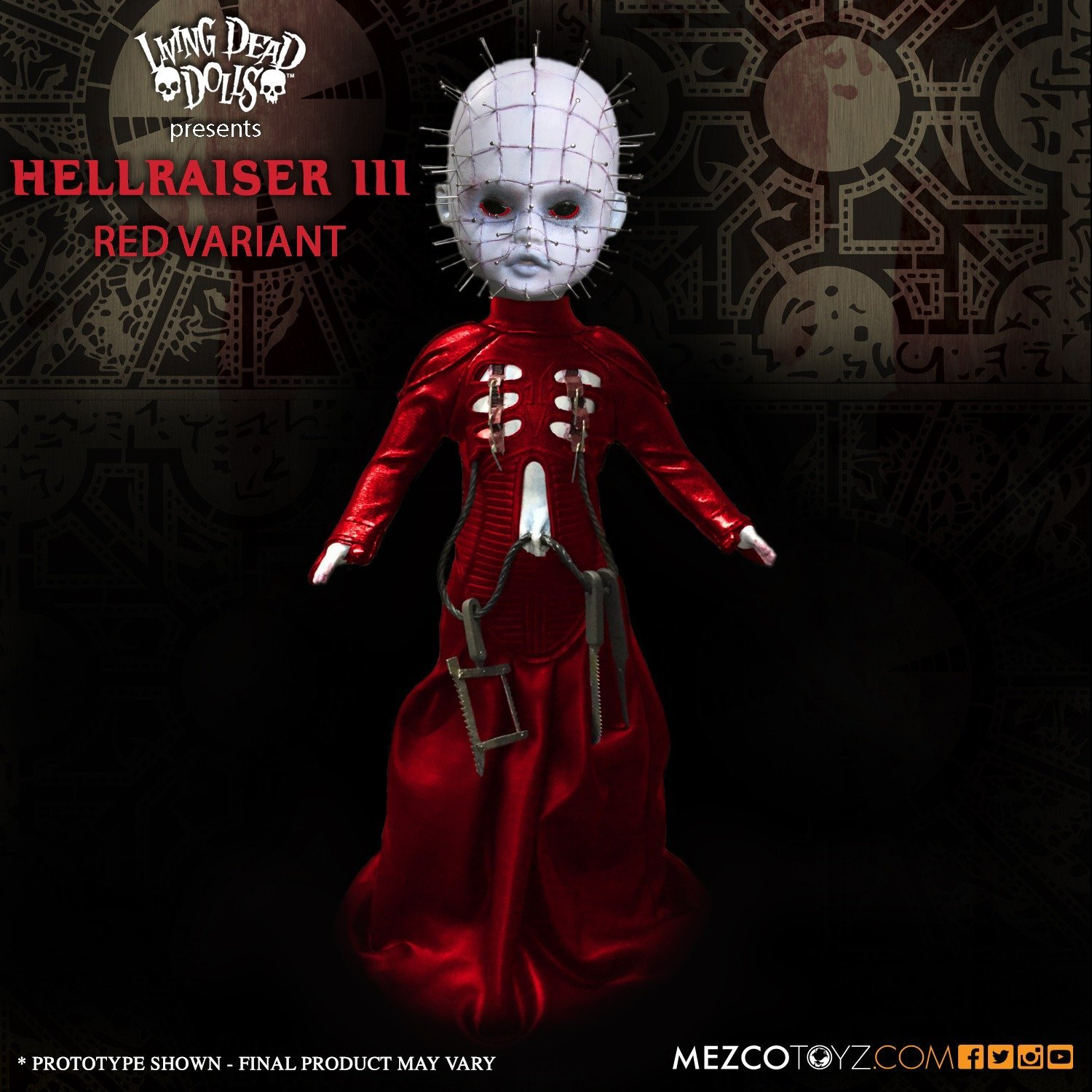 Mezco Hellraiser III WC-94650 Hell on Earth Pinhead 10 inch Doll