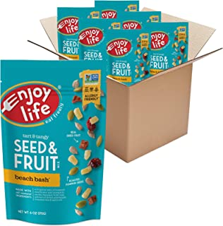 product image for Enjoy Life Seed & Fruit Mix, Peanut Free Trail Mix, Soy Free, Nut Free, Gluten Free, Dairy Free, Non GMO, Vegan Snack Mix, Beach Bash, 6 - 6 oz Packs