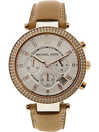 Amazon.com  Michael Kors Women s MK5633 Parker Tan Watch  Michael ... 3bfb64e670