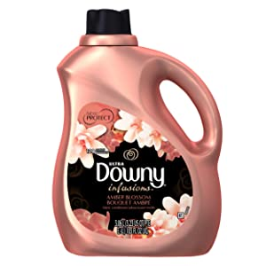 Downy Ultra Infusions Liquid Fabric Conditioner, Amber Blossom Scent, 103 Fl Oz