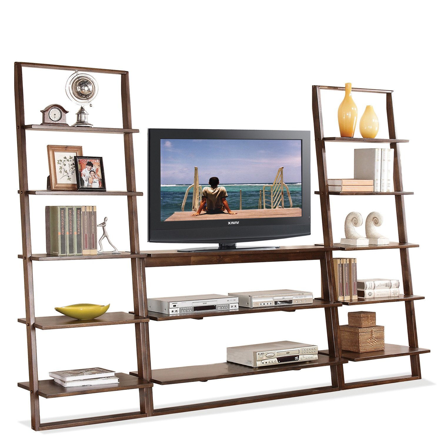 Awesome Amazon.com: Riverside Furniture Lean Living TV Stand In Burnished  Brownstone: Kitchen U0026 Dining