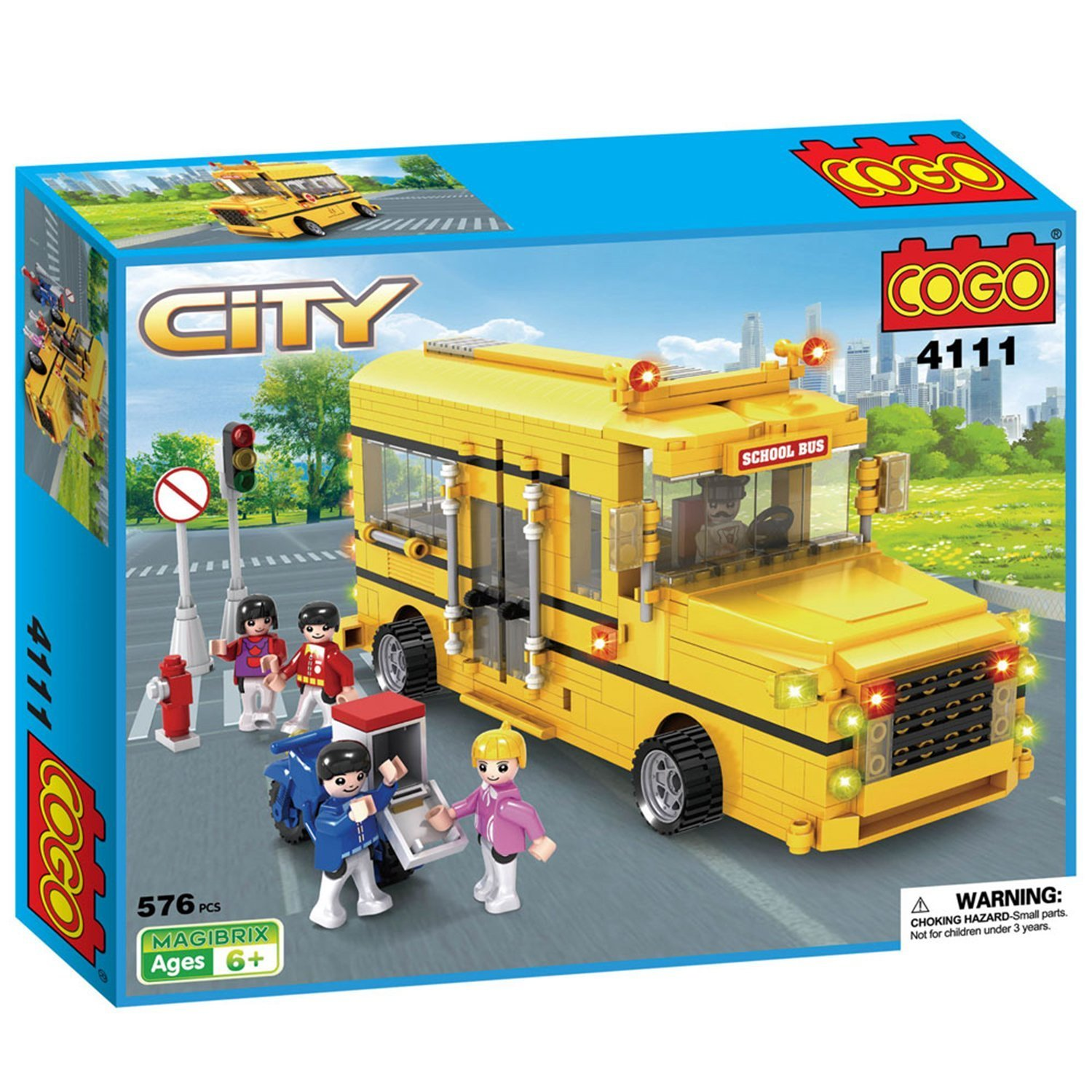 Amazon COGO City Long Nose School Bus Yellow Truck Car