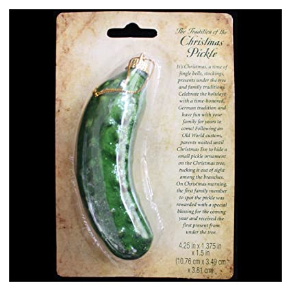 retro german holiday tree christmas pickle ornament game tradition w legend gift top