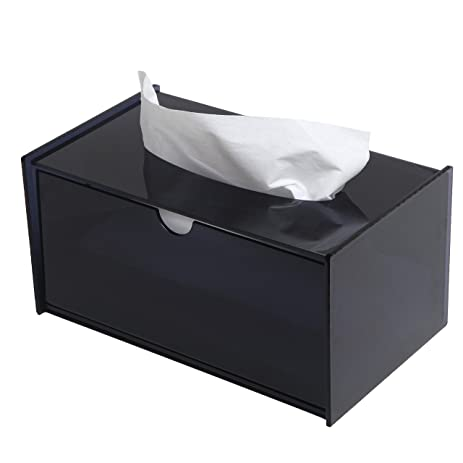 Amazoncom Modern Black Bathroom Facial Tissue Dispenser Box Cover