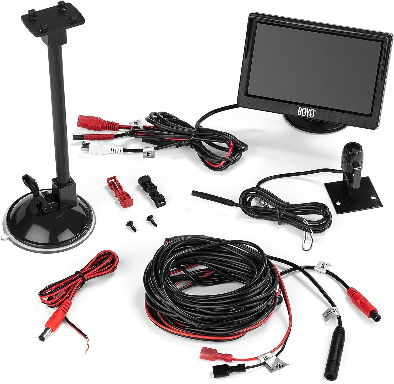 "BOYO VTC500DIY Truck Vehicle Backup Camera System with 5/"" Monitor and Backup Camera for Car Installation Friendly Design SUV and Van"