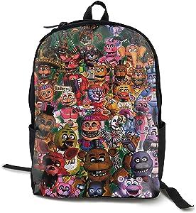 Game Fnaf Boys Laptop Backpack High Capacity WidenedFor School Backpack