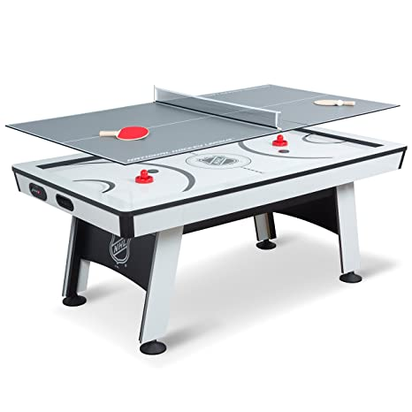 Review EastPoint Sports NHL Power Play Air Powered Hockey Table with Table Tennis Top 80IN