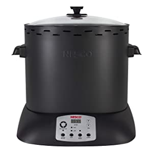 NESCO ITR-01-13, Digital Infrared Upright Turkey Roaster, Oil Free, 1425 Watts, Black