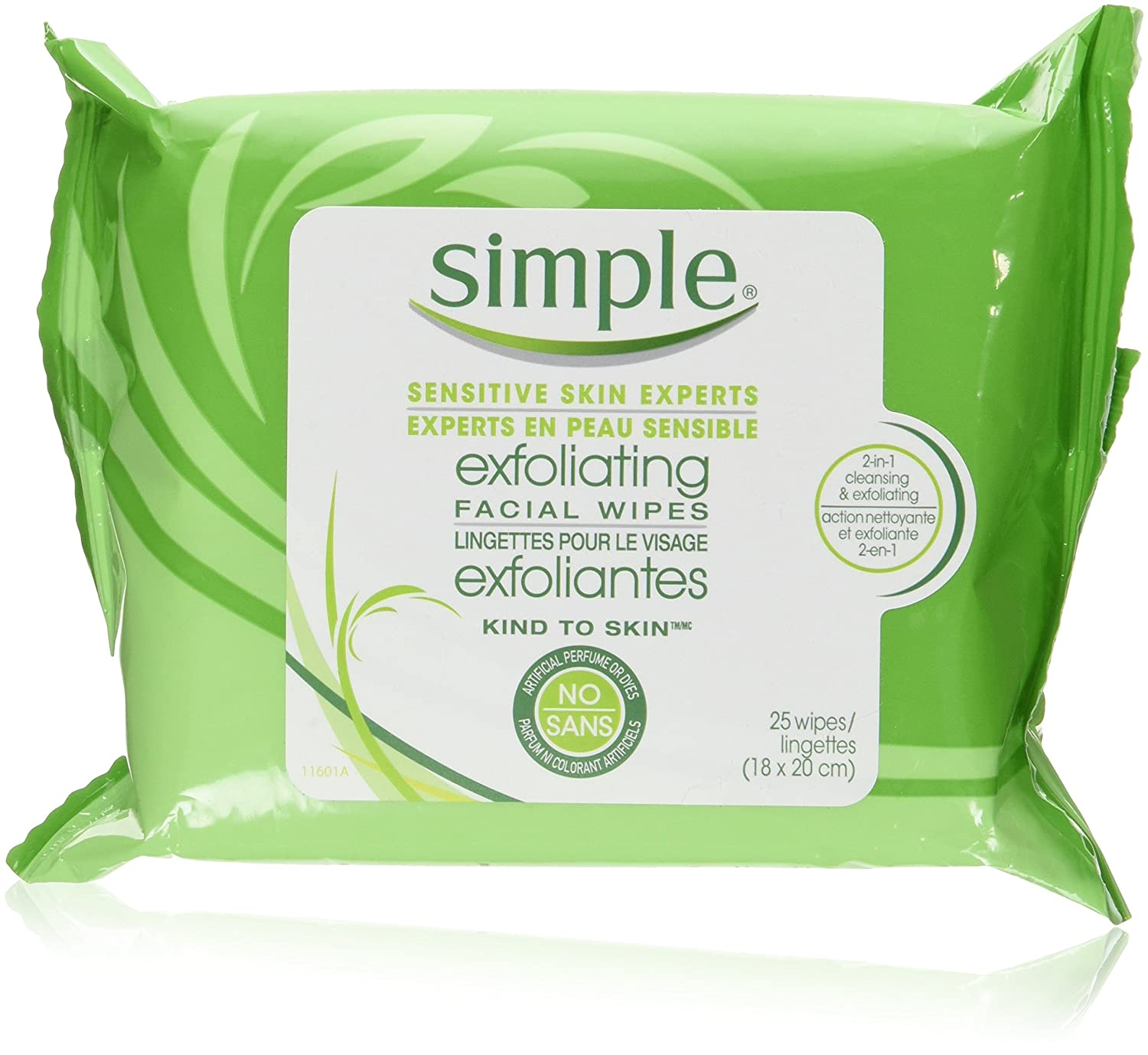 Simple Kind to Skin Exfoliating Facial Wipes 25 PC