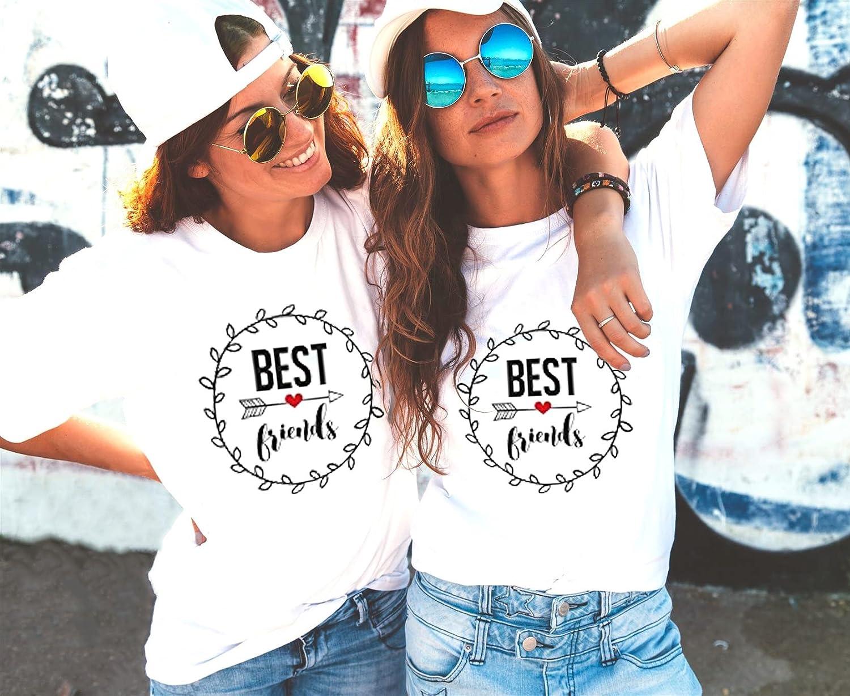 Best Friends T-Shirts f ü r Zwei Damen M ä dchen Beste Freundin BFF ... 76f98d031f