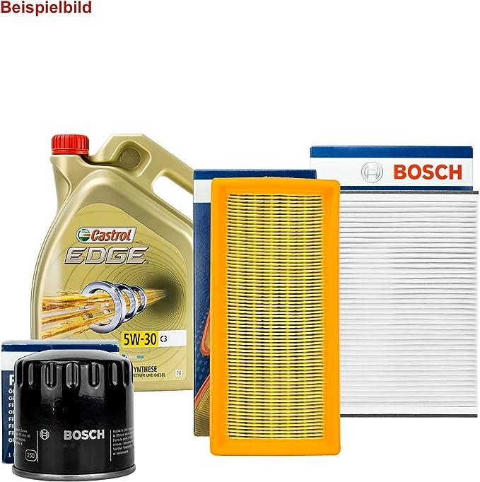 Bosch Filter Set Inspektionspaket 5l Castrol 5w 30 Auto