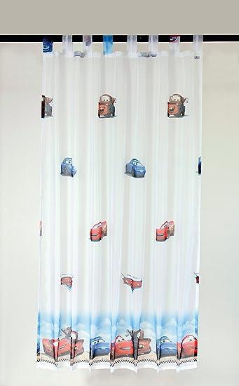 Amazon.de: Disney Cars - Schlaufengardine Dekoschal Gardine Vorhang ...