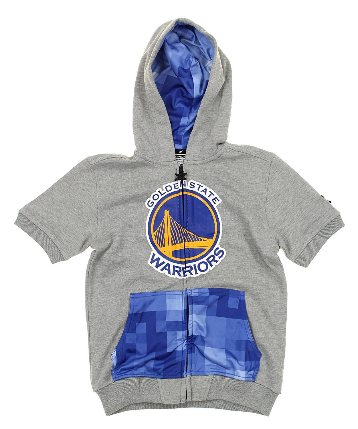 88b1033c830d39 Top3  NBA Youth (8-20) Golden State Warriors Full Zip Pixel Hoodie Shirt