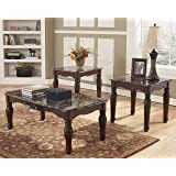 Signature Design by Ashley North Shore 3 Piece Occasional Table Set, Dark Brown