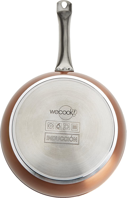 Aluminio 24 cm Cobre WECOOK Sart/én con Efecto Piedra
