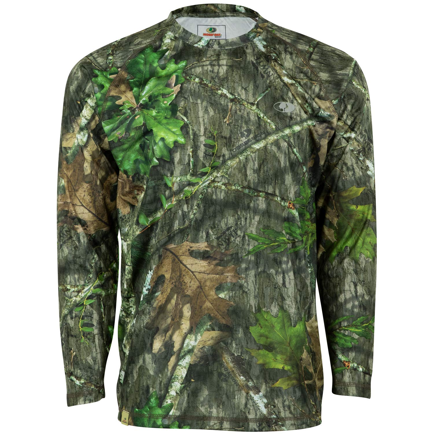adf82817359e5 Amazon.com : Mossy Oak Youth Camo Performance Long Sleeve Tech Hunting  Shirt : Sports & Outdoors