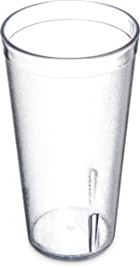 Carlisle 522007 BPA Free Stackable Shatter-Resistant Plastic Tumbler, 20 oz., Clear (Pack of 72)