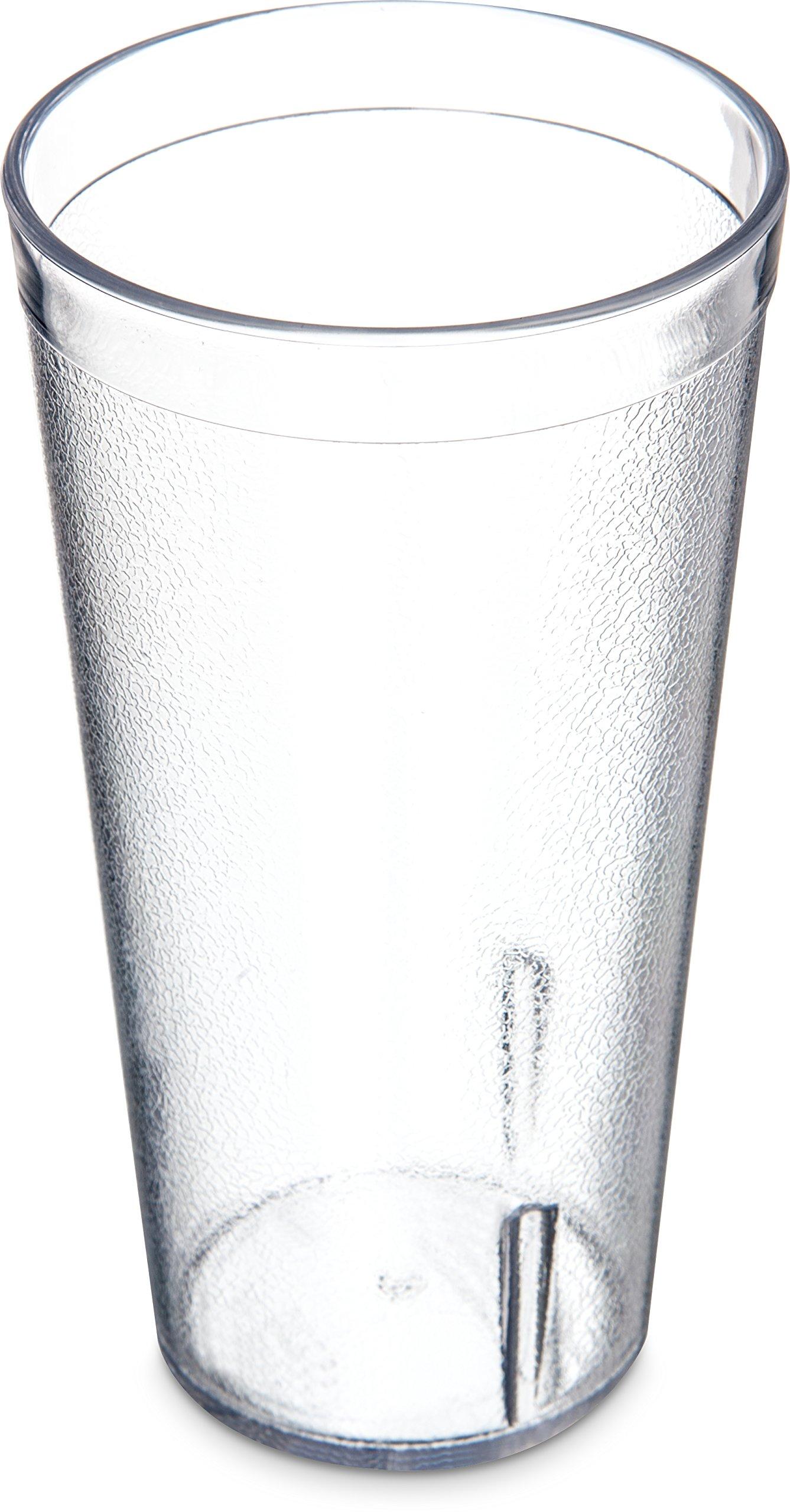 Carlisle 522007 Stackable Shatter-Resistant Plastic Tumbler, 20 oz., Clear (Case of 72)