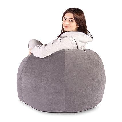 Prime Amazon Com Classic Soft Pastel Bean Bag Graphite Size Machost Co Dining Chair Design Ideas Machostcouk