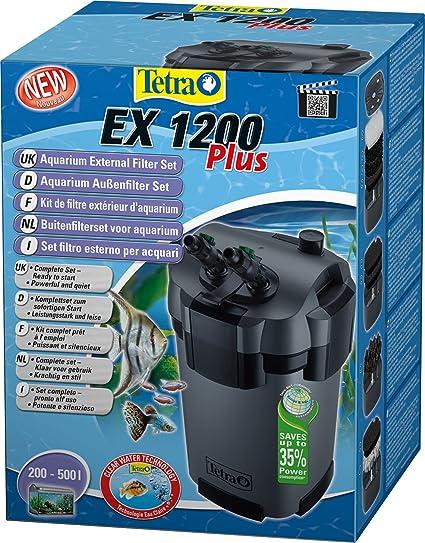 Tetra EX 1200 plus - Set completo de filtro exterior para acuario