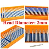 Joiner Diamond Ball Burrs 1-3mm Round Grinding Bits Tools for Stone Shank