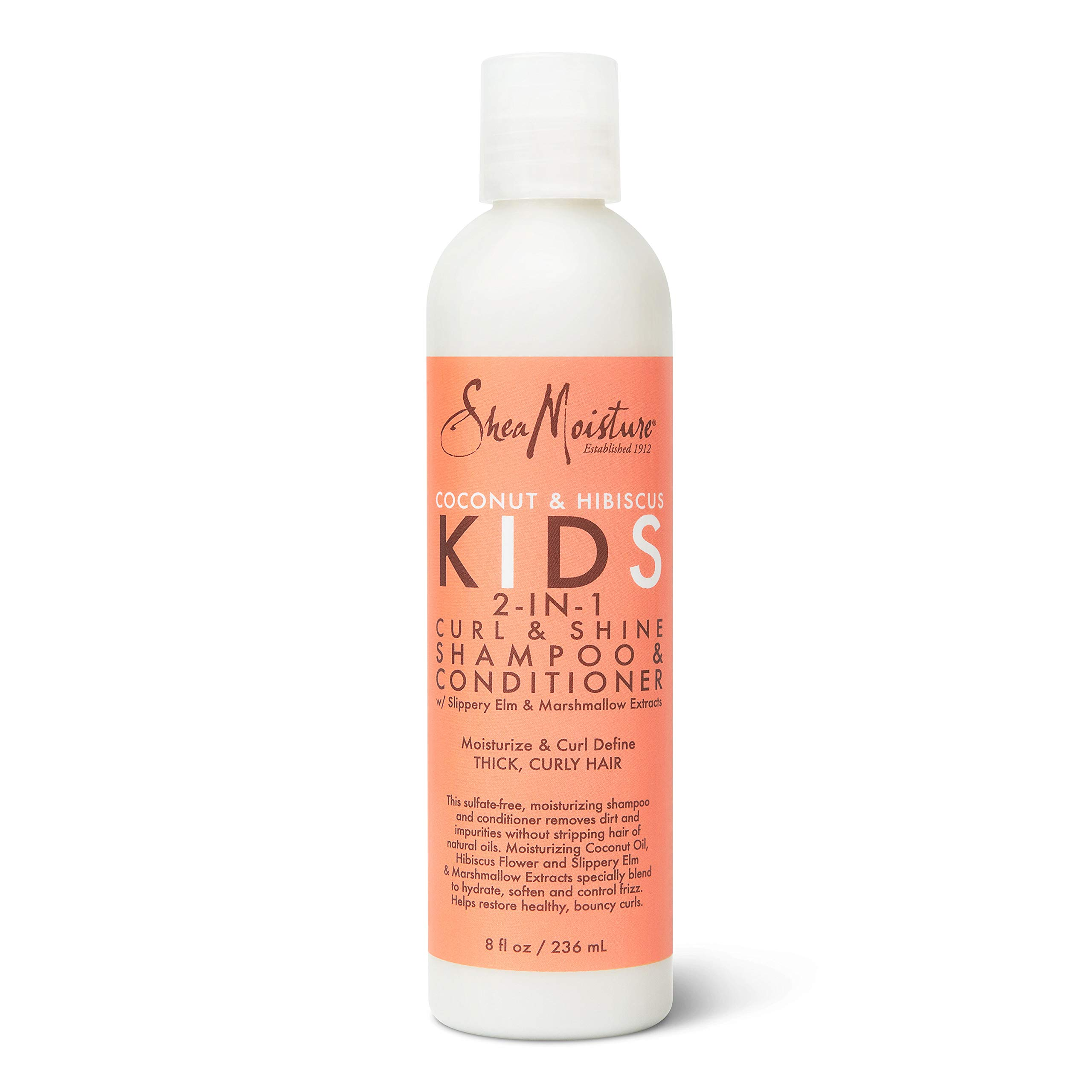 SheaMoisture 2-in-1 Shampoo and Conditioner for Kids Coconut and Hibiscus Coconut Oil for Hair and Dry Curls 8 oz