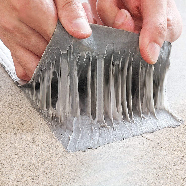 X1.5mm W 150mm T Fowong Aluminum Waterproof Tape L X5M Butyl Sealing Repair Tape Aluminum Foil Self-Adhesive Thick Repair Tape for Sealing and Fastening for Pool Hole Pipe Roof RV Bathroom