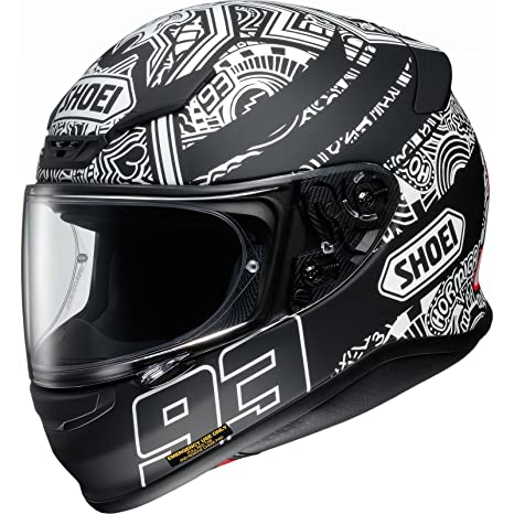 Shoei NXR Marquez Digi Ant Motorcycle Helmet S Black White (TC-5)