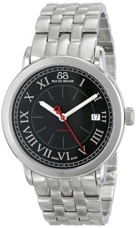 88 Rue du Rhone Men s 87WA120034 Analog Display Swiss Automatic Black Watch